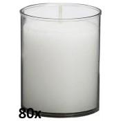 80 stuks Bolsius relight kaars in transparant kunststof kaarsenhouder, voordeel verpakking