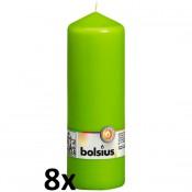 8 stuks ivoor stompkaarsen 200/70 van Bolsius extra goedkoop in een voordeel verpakking
