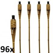 96 stuks bruine bamboe fakkels lengte 120 cm