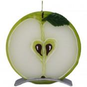 Groene appel ronde geurkaars 150/145/12 op standaard (5 uur)