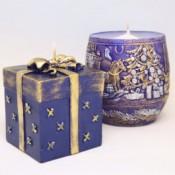 Duo Set Blauwe Kerstmis Cadeau