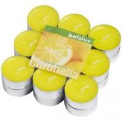 Gele citronella geurtheelichtjes van Bolsius