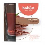 Bolsius geurglas oud hout - oud wood geurkaars 95/95