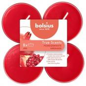 Bolsius granaatappel - pomegranate maxi geurtheelichtjes 8 stuks