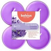 Bolsius lavendel - lavender maxi geurtheelichtjes 8 stuks