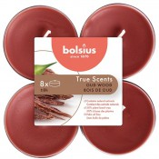 Bolsius oud hout - oud wood maxi geurtheelichtjes