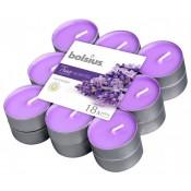 18 stuks geurtheelichtjes lavendel Bolsius