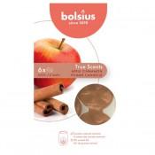 Bolsius wax melts appel kaneel - apple cinnamon geur 6 stuks (25 uur)
