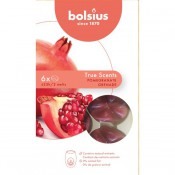 Bolsius wax melts granaatappel - pomegranate geur 6 stuks (25 uur)