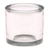 Robuuste maxi theelicht houder van glas 80 x 90 mm