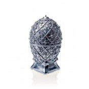 Prachtig zilver gelakte medium Faberge ei figuurkaars