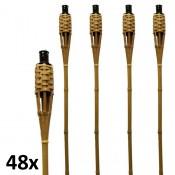 Naturel bruine bamboe fakkels lengte 120 cm verpakt per 24 stuks