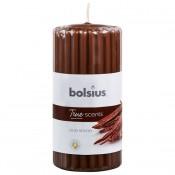 Bruine Bolsius geurkaars met houtgeur 120/58