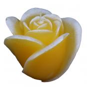 Oranje roos figuurkaars met bananen geur