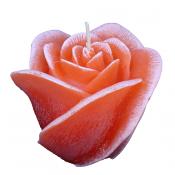 Oudroze roos figuurkaars met aardbeien geur 100/120 (30 uur)