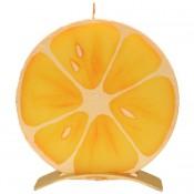 Sinaasappel Ronde Kaars (5 uur)