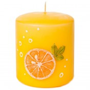 Sinaasappel Stompkaars 90/80 (45 uur)