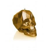 Prachtig goud gelakte Schedel Poly figuurkaars