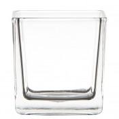 Glazen maxi theelichthouder vierkant 80/80/80