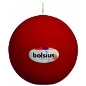 Bolkaars wijnrood van Bolsius, diameter 7 cm