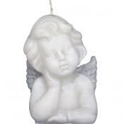 Witte engel figuurkaars nr. 5