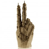 Brons Zombie Hand PEACE