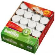 Bolsius witte 4-uurs waxinelichtjes in doos 60 stuks