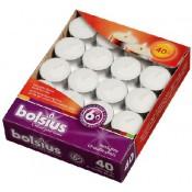 Bolsius witte 6-uurs waxinelichtjes in doos 40 stuks