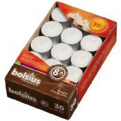 Bolsius witte 8-uurs waxinelichtjes in doos 30 stuks