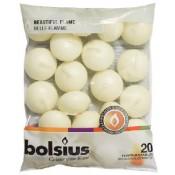 Bolsius ivoor 4,5-uurs drijfkaarsen set van 20 stuks