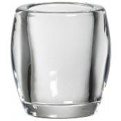 Bolsius transparant glazen theelichthouder ovaal 77/72