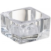 Bolsius glazen maxi theelichthouder square 42/75/75