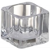 Bolsius glazen theelichthouder square 45/55/55