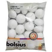 Bolsius witte 4,5-uurs drijfkaarsen set van 20 stuks