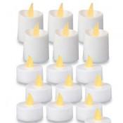 192 stuks Led theelichtjes en led kaarsjes witte kleur met batterij