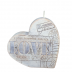 Beige LOVE letter hart kaars 135/135/40 (40 uur)