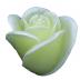 Gele roos figuurkaars met grapefruit geur