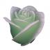 Groene roos figuurkaars met druiven geur