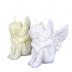Ivoor en Witte engel figuurkaars nr. 4