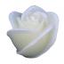 Ivoor roos figuurkaars met vanille geur