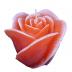 Oudroze roos figuurkaars met aardbeien geur