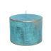 Turquoise loft rustiek stompkaars 70/100