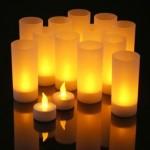 Led-lampjes op batterij in je kaars of theelicht, een veilig gevoel
